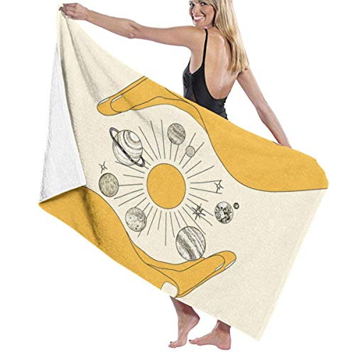 The Universe in Your Hands Beach Towel Travel Towels for Camping,Sports,Yoga,Swimming,Gym Quick Dry Bath Towel 31.5