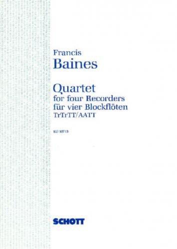 Quartet for four recorders (English, German) ED10713