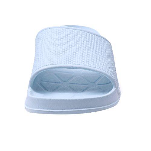 WILLIAM&KATE Hausschuhe für Frauen im Sommer Casual Anti-Rutsch-Hausschuhe Indoor-Boden Sandale Bad Slipper Blau Grau