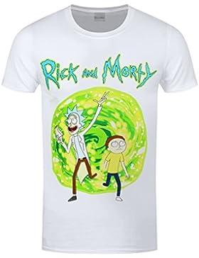 Rick And Morty Portal T-Shirt weiß