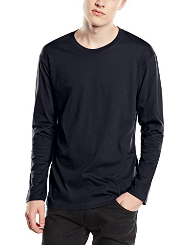 Stedman Apparel Herren T-Shirt Classic-t Long Sleeve/st2500 Blau - Blue Midnight