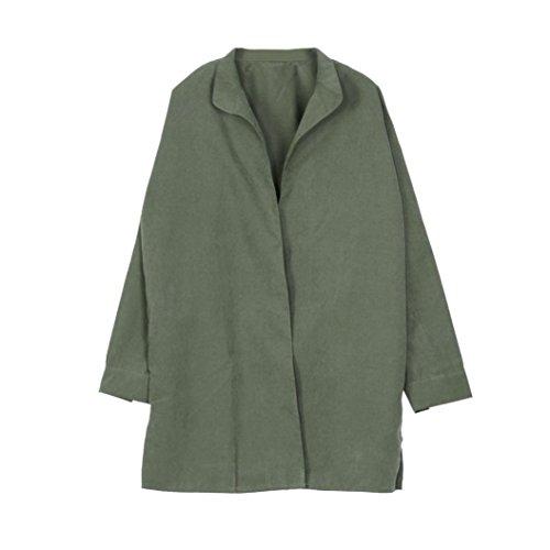 Zolimx Mode Frauen Dünne Jacke Windbreaker Outwear Wolljacke Mantel - 4