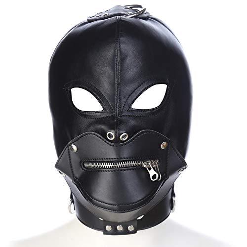 Halloween Demon Head Anzug Dressing Paar Spiel mit Zipper Mask Binding Passion Toy ()