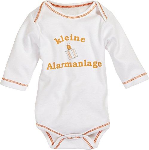 Schnizler Body 1/1-Arm 'Kleine Alarmanlage, Beige (Natur 2), 86 (Taille Fabricant: 86/92) Mixte bébé