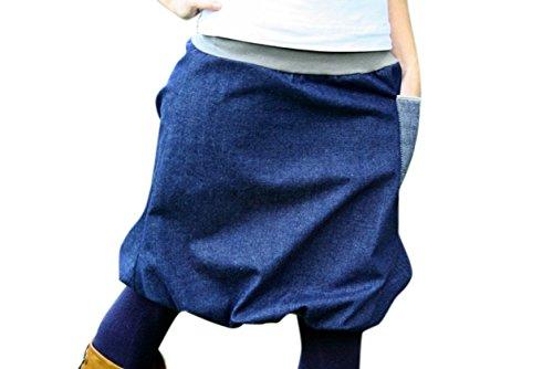 Ballonrock-PAULIZ-blauer-Damen-Ballonrock-aus-Jeans-Handarbeit-aus-Deutschland-Made-in-Germany