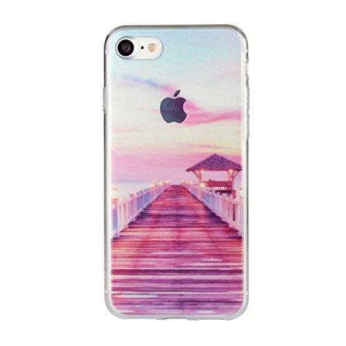 MOONCASE iPhone 7 Coque, Ultra Mince Motif Etui TPU Silicone Antichoc Housse Case pour iPhone 7 (Paysage 18) Paysage 13