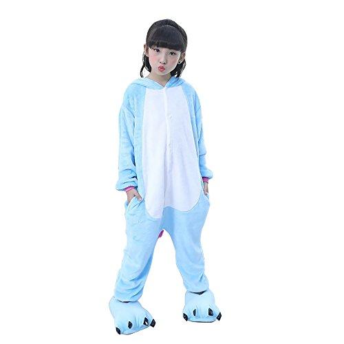 Pigiama Unicorno Kigurumi Adulto Animale Cosplay Animato Costume Camicie da Notte Carnevale Halloween Costume Tuta Animali Onesies Blue