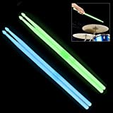 OriGlam 5A Leuchttrommelstöcke, leuchtende Drumsticks, leuchtet im Dunkeln leuchtende Drumsticks (grün)