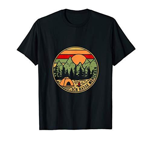 Ich hasse Menschen Camping bunt T-Shirt Zelten Lagerfeuer