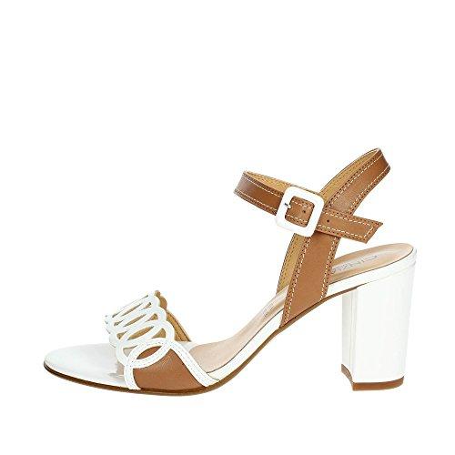 Cinzia Soft IBB356-VE 002 Sandale Femme Blanc/Marron cuir