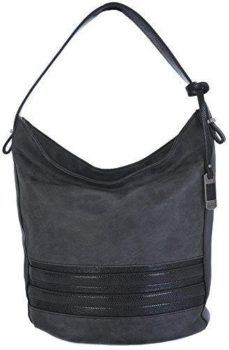 david-jones-lightweight-top-zip-shoulder-bucket-hobo-handbag-various-colours-4011-1-black