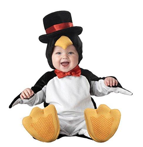 (Kenmont Kleinkind Baby Säugling Spielanzug Tier Kostüm Overalls Foto-Prop Outfits Weihnachten Halloween Outwear Bodys (Pinguin, 100))