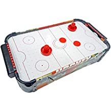 Popsugar Wooden Electronic Air Hockey Table Game with Powerful Fan,