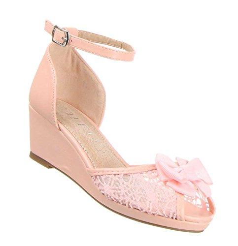 Kinderschuhe Pumps Mädchen Riemchen Sandaletten Pink 31
