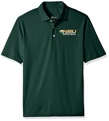 Hunter Green Polo-shirt (Oxford NCAA Norfolk State Spartans Herren Houston Performance Polo-Shirt, X-Large, Hunter)