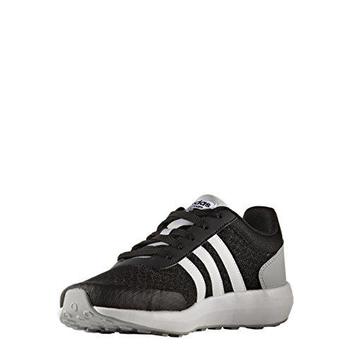 adidas Cloudfoam Race K, Chaussures de Tennis Mixte Enfant Noir (Negbas/ftwbla/onicla)