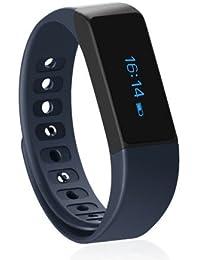 Fitness Tracker Wireless Actividad Muñequera, shonco i5Plus bluetooth4.0OLED Pantalla táctil inteligente pulsera podómetro/Paso Tracking heaalth monitorización sueño para iPhone 5S/5C/IOS7.0arriba y Android 4.3encima de teléfono, color azul