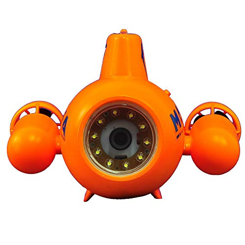 YAOHM Drone sous-Marin Mini RC sous-Marin 5.8G HD 2.4G Télécommande caméra étanche ISO et système Android FPV