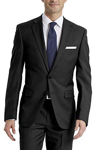 Calvin Klein Men's X-Fit Slim Stretch Suit Separate (Blazer and Pant), Black, 36 Short -