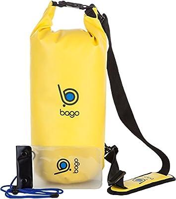 Bago Dry Bag - Bolsa Impermeable Con Ventana Transparente + Funda Impermeable Para Móvil