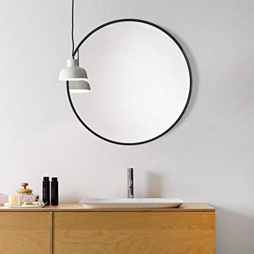 PLL Nordischer Badezimmer-Spiegel-runder Spiegel-an der Wand befestigter Spiegel, der Kosmetikspiegel-Badezimmer-hängender Spiegel hängt (Size : L 80cm)