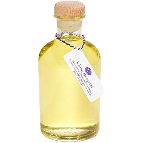 500ml Bottle of RELAXING Massage Oil (a blend of Lavender, Geranium, Lemon & Clary Sage Pure Essential Oil)