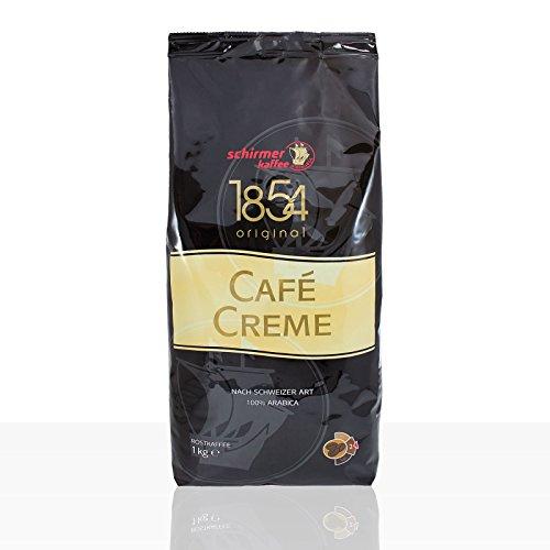 Schirmer Kaffee Cafe Creme nach Schweizer Art, ganze Bohnen, Kaffeebohnen, 8er Pack, 8 x 1000g
