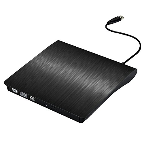 Graveur Lecteur DVD Externe USB 3.0,Portable CD-RW ROM Player Rewriter pour Windows Vista Linux MAC OS