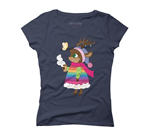 Spring is coming Women's Graphic T-Shirt - Design By Humans Navy