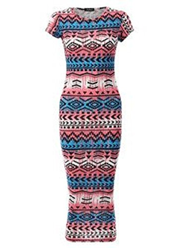 Fashion 4 Less - Robe -  Femme - NeonCoral