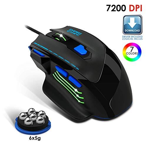 EMPIRE GAMING - Nouveau - Souris gamer filaire Hellhounds gamers - 7200 DPI - 7 boutons programmables avec Logiciel - Rétro-éclairage RGB - ... 4