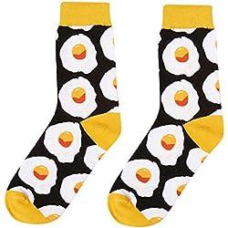 BHYDRY Calcetines de algodón con estampado divertido de mujer Calcetines de tobillo Regalos divertidos Calcetines de vestir