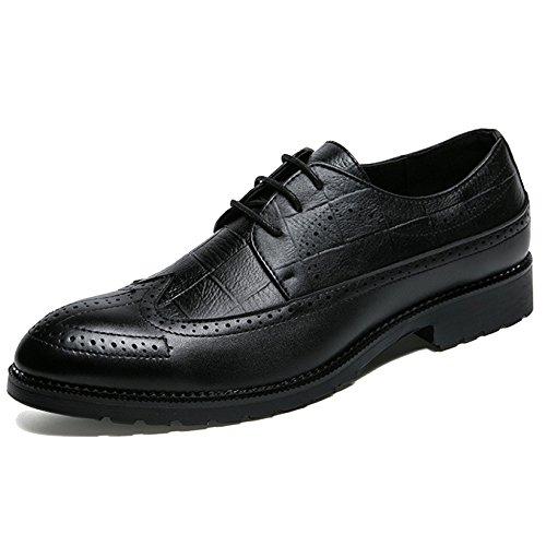 MERRYHE Richelieus Lace Ups Hommes Business PU Pointu Toe Derby Chaussures Formelles Pour Le Travail Party Wedding