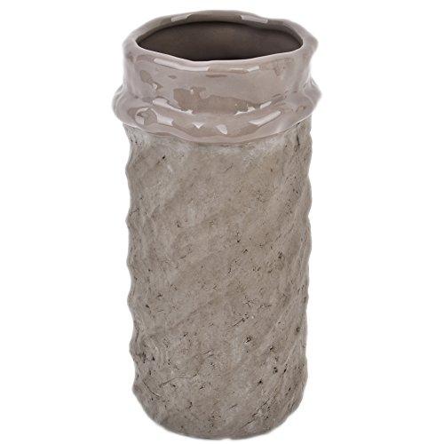 Dadeldo Topf rund Garden Vintage Keramik schlamm Blumenvase Pflanztopf (24x12x12cm) - Vintage Garden Vase