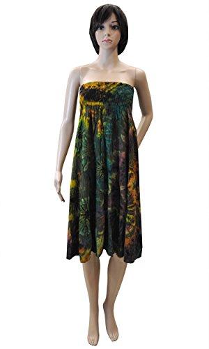 Damenmode trägerloses Maxikleid Top Rock Kleid Haremshose 42474 + 42471 - Shirt+Rock