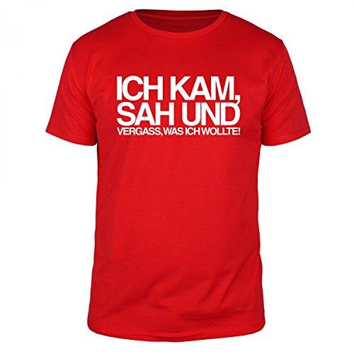 FABTEE - Ich kam sah und vergass was ich wollte - Herren T-Shirt - verschiedene Farben - Größen S-4XL Rot