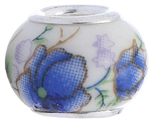 Y-BOA 50 Perles Céramique DIY Bijou Coloré Rétro Collier/Pendentif/Bracelet/Boucles d'Oreilles (44#)