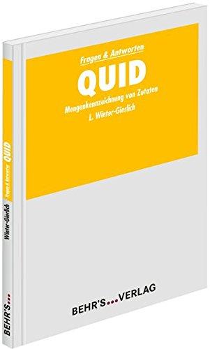QUID: Mengenkennzeichnung von Zutaten