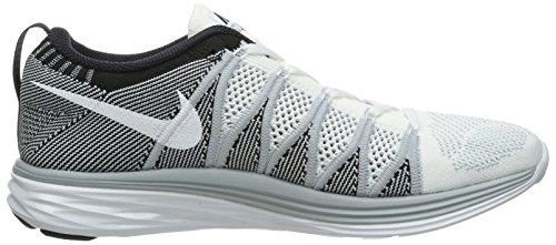 Nike 620465 011 Flyknit Lunar2 Herren Sportschuhe - Running White / Wolf Grey / Black 4IK7h9s