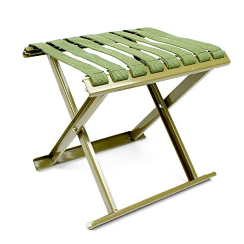 Folding chair Chaise - Tabouret Pliant extérieur, Petit Cheval de Maison, Tabouret de pêche en Acier au Carbone épais/Tabouret de Barbecue (Taille : 28 * 24 * 26cm)
