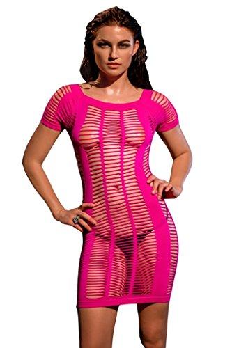 Saphira mode. Miniklied Netzkleid sexy Reizwäsche clubwear dessous Stretchkleid Nachthemd. Einheitsgröße S/M/L (36/38/40)