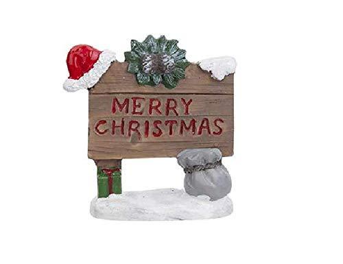 Toyland 9cm Fairy Garden Frohe Weihnachten Zeichen - Weihnachtsschmuck