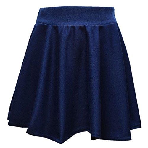 Back To School Uniform camicetta da bambina e ragazze gonna Skater Bambini matita gonna scuola uniforme scolastica Wear 5678910111213anni Blue Skater 9-10 Anni