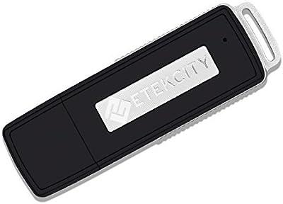 Etekcity® VR-08 Mini Grabadora de Voz Digital, USB 8GB, Grabadora Espía Portátil, con Memoria USB hasta 150 Horas, Negro