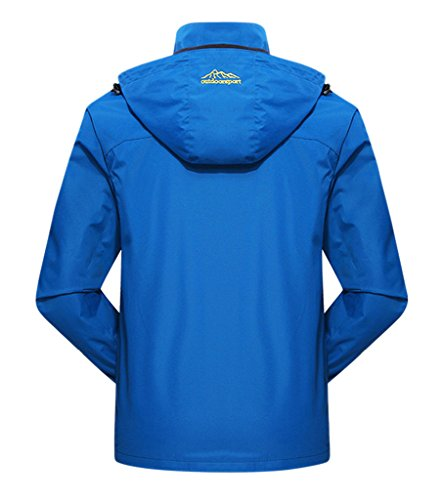 Geval Männer Outdoor Sport Windproof Camping Shell Jacken Blue