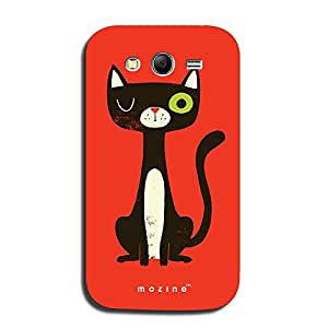 Mozine Winking Kitty printed mobile back cover for Samsung grand neo plus