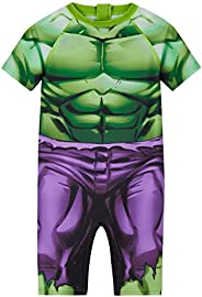 Marvel Bañador para Niño, Traje de Baño de Hulk o Spiderman, Regalos para Niños Edad 18 Meses-8 Años