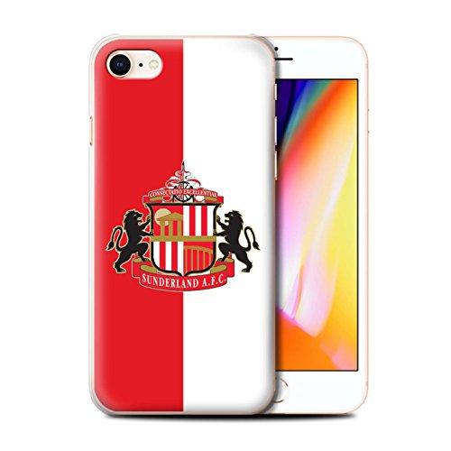 Offiziell Sunderland AFC Hülle / Case für Apple iPhone 8 / Rot/Weiß Muster / SAFC Fußball Crest Kollektion Rot/Weiß