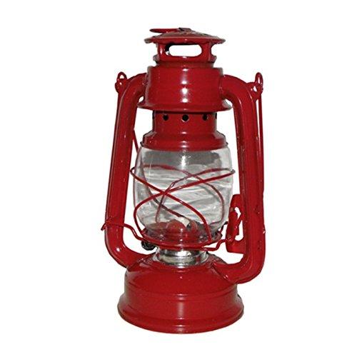 Stall-Laterne rot 25cm Lampe Öllampe Windlicht Petroleumlampe,
