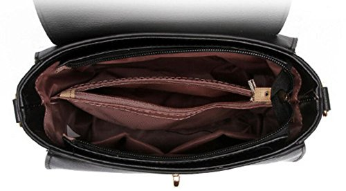 DcSpring Borse a Mano in PU Pelle Piccolo Borsa a Tracolla Elegante Spalla Vintage Sacchetto per Donna Grigio